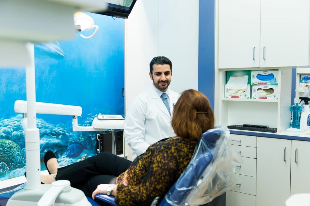 seacliff dental dr sam soltani with patient