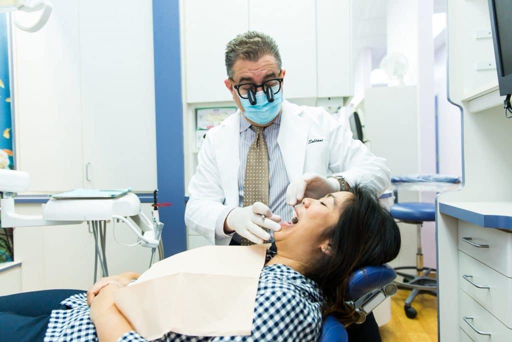 seacliff dental dr daniel aslani with patient